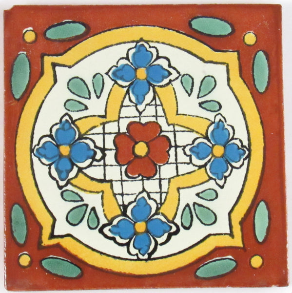 "Mexican Tile 4""  T4022"
