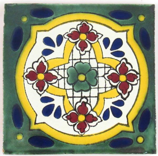 "Mexican Tile 4""  T4023"