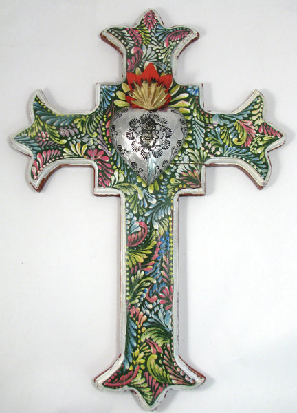 Hand Made Mexican Folk Art Cross  LWC001
