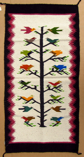 "SOUTHWEST MEXICAN RUG 30"" X 60"" TREE OF LIFE Design TLR002"