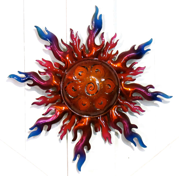 "WALL HANGING METAL SUN 19""  MSS003"