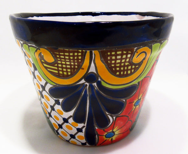 "TALAVERA FLOWER POT PLANTER 8"" TFP005"