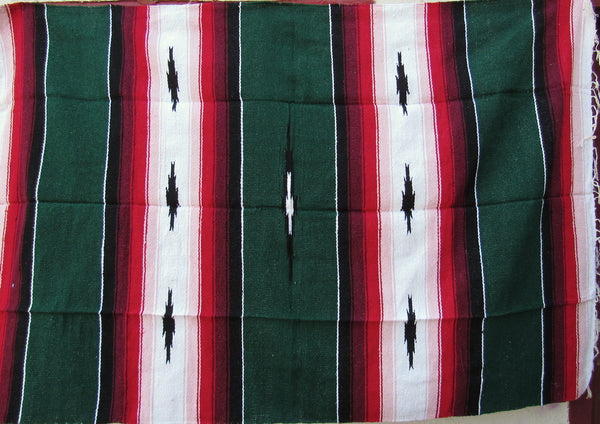 MEXICAN BLANKET XL 4.5' X 6.5' green
