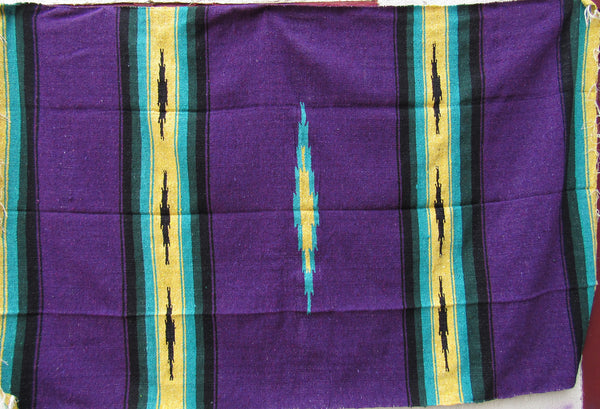 MEXICAN BLANKET XL 4.5' X 6.5' purple BLP001