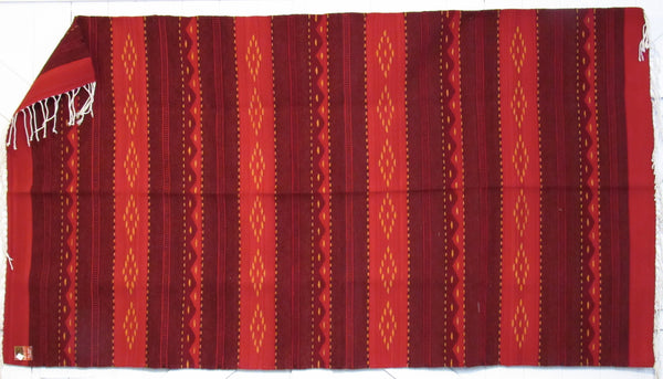 Zapotec Rug 48 X 80 Southwest Wool Made In Mexico Imports Hand