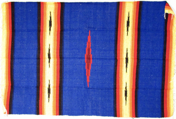Mexican Blanket XL 4.5' X 6.5' Blue BL007