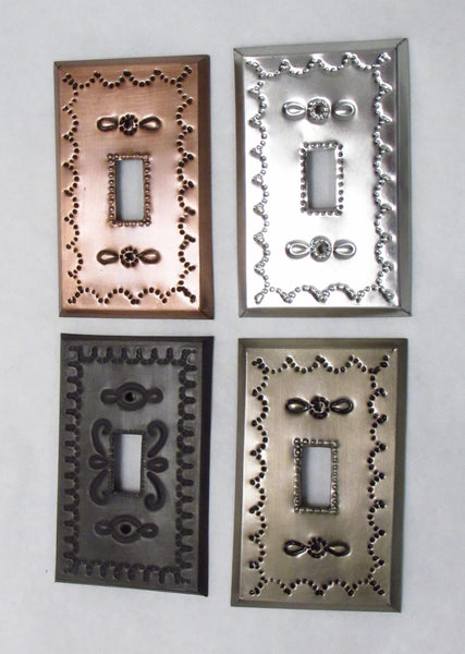 Mexican Tin Single Toggle Switch Plate Covers Camino