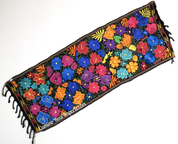 Guatemala Floral Embroidered Table Runner GFR002