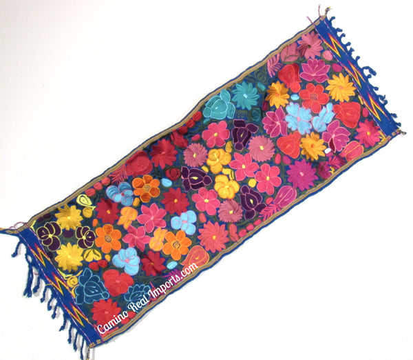 Guatemala Floral Embroidered Table Runner GFR003