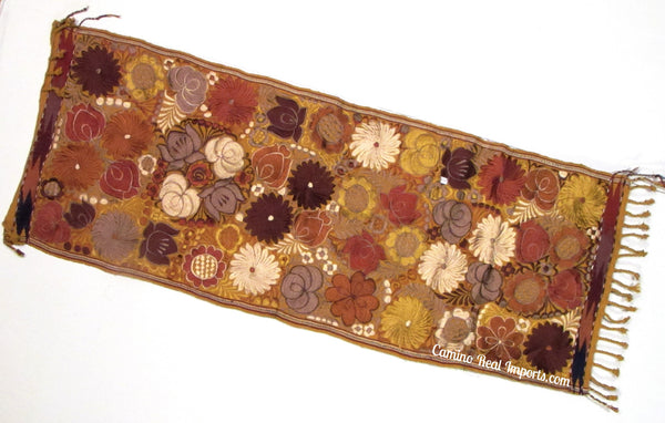 Guatemala Floral Embroidered Table Runner GFR005