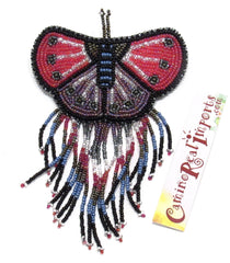 BUTTERFLY BEADED HAIR BARRETTE GHB001