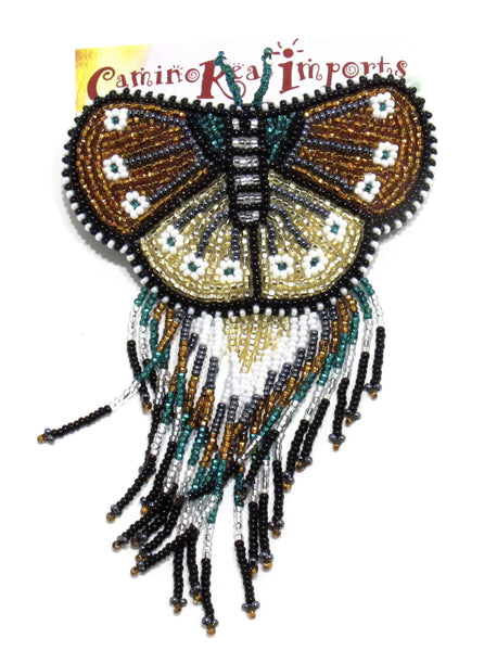 BUTTERFLY BEADED HAIR BARRETTE GHB006