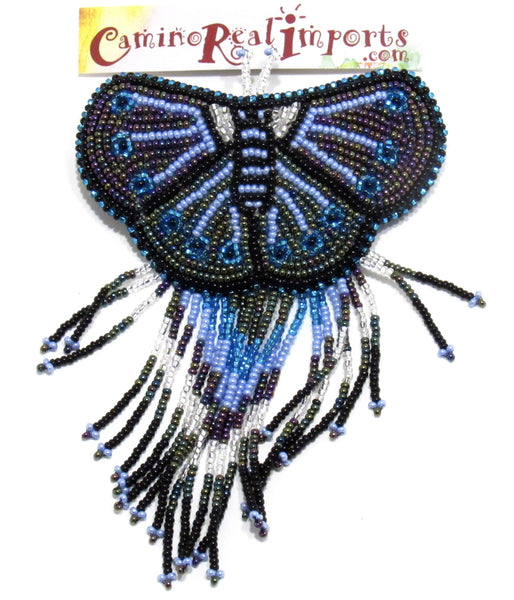 BUTTERFLY BEADED HAIR BARRETTE GHB009