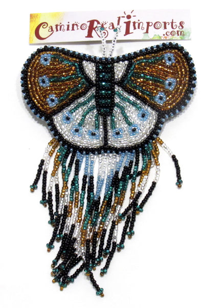 BUTTERFLY BEADED HAIR BARRETTE GHB011
