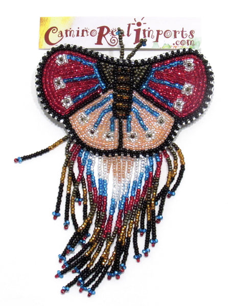 BUTTERFLY BEADED HAIR BARRETTE GHB016