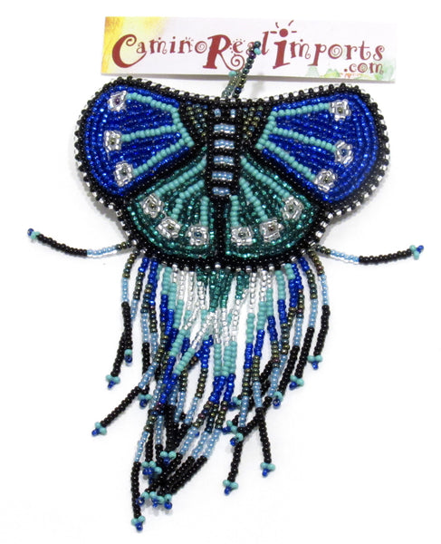 BUTTERFLY BEADED HAIR BARRETTE GHB019