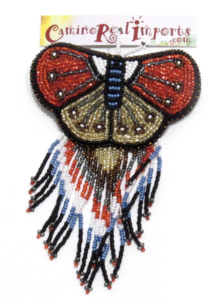 BUTTERFLY BEADED HAIR BARRETTE GHB020