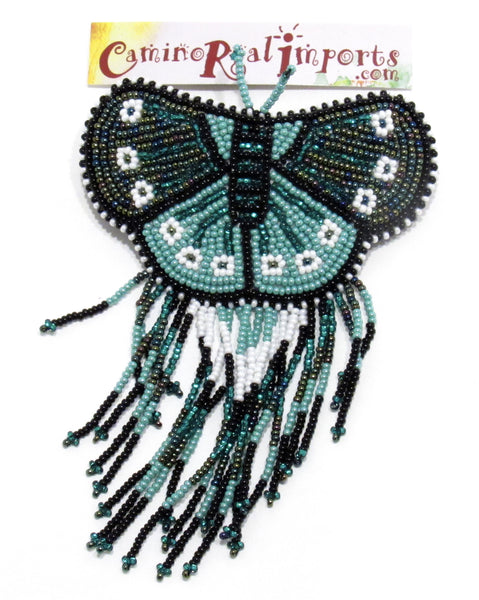 BUTTERFLY BEADED HAIR BARRETTE GHB021