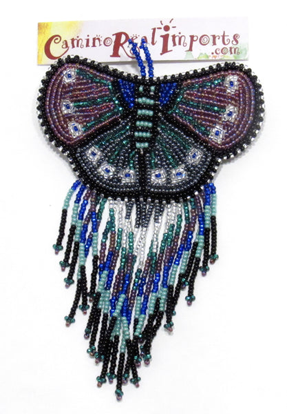 BUTTERFLY BEADED HAIR BARRETTE GHB022
