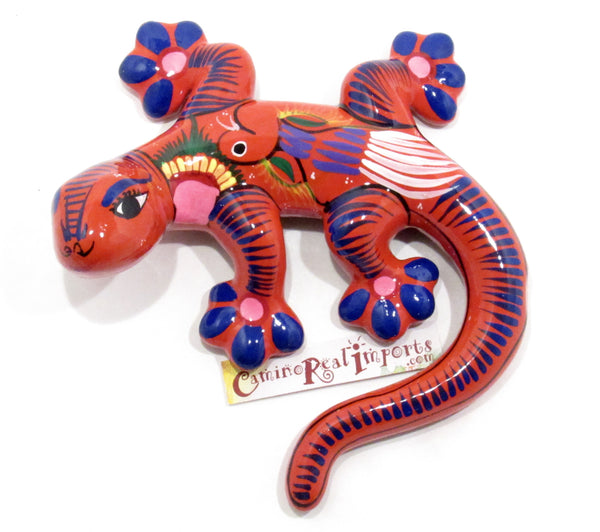 HAND PAINTED CLAY GECKO LIZARD GGLM004