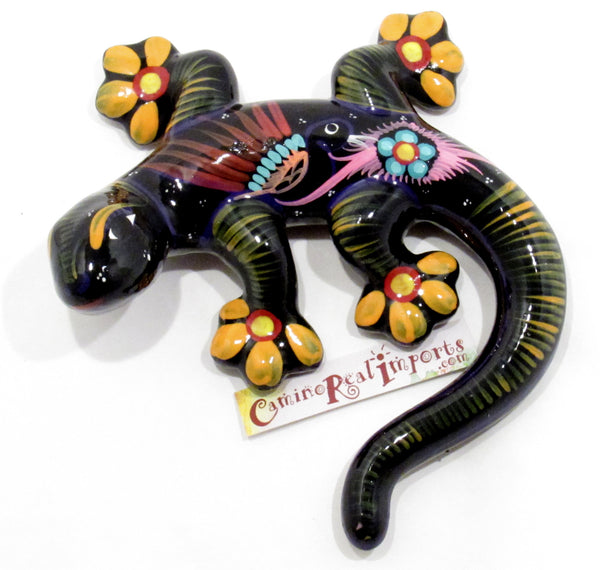 Hand Painted Clay Gecko Lizard GGLM005