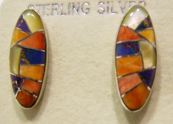 Multi Stone Earrings Sterling Silver