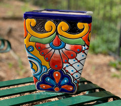 Talavera Flower Pot  Planter  TPTSQS002