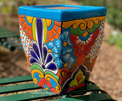 Talavera Flower Pot  Planter  TPTSQS003