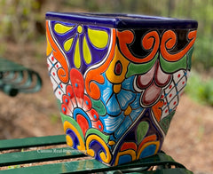 Talavera Flower Pot  Planter  TPTSQS004