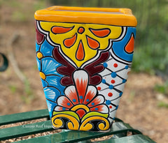 Talavera Flower Pot  Planter  TPTSQS006