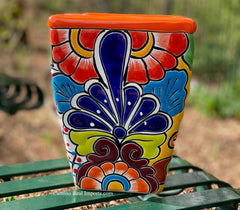 Talavera Flower Pot  Planter  TPTSQS005