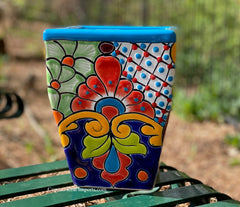 Talavera Flower Pot  Planter  TPTSQS007