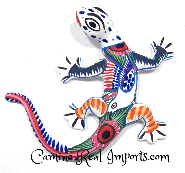 Painted Clay Gecko Lizard CaminoRealImports.com