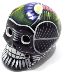 Day Of The Dead Hand Painted 3'' Skull MCSSM001