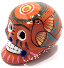 Day Of The Dead Hand Painted 3'' Skull MCSSM002