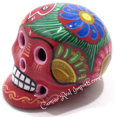 Day Of The Dead Hand Painted 3'' Skull MCSSM003