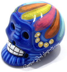 Day Of The Dead Hand Painted 3'' Skull MCSSM004