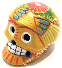 Day Of The Dead Hand Painted 3'' Skull MCSSM005