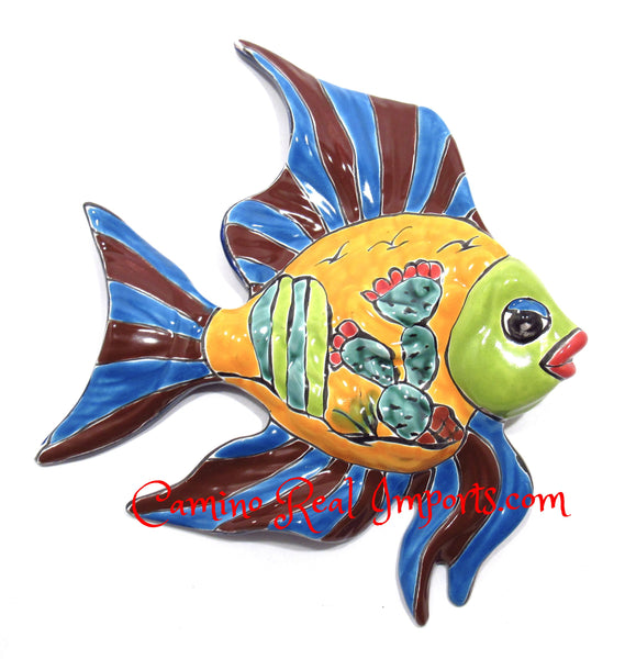 Talavera Fish Wall Decor CaminoRealImports.com