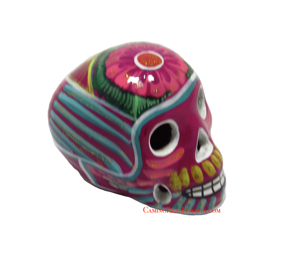 Day Of The Dead Hand Painted 3'' Skull MCSSM009