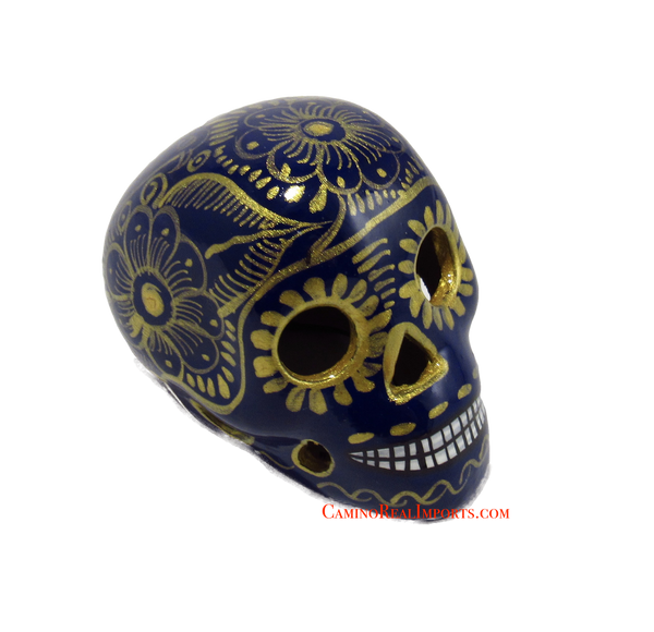 Day Of The Dead Hand Painted 3'' Skull MCSSM010