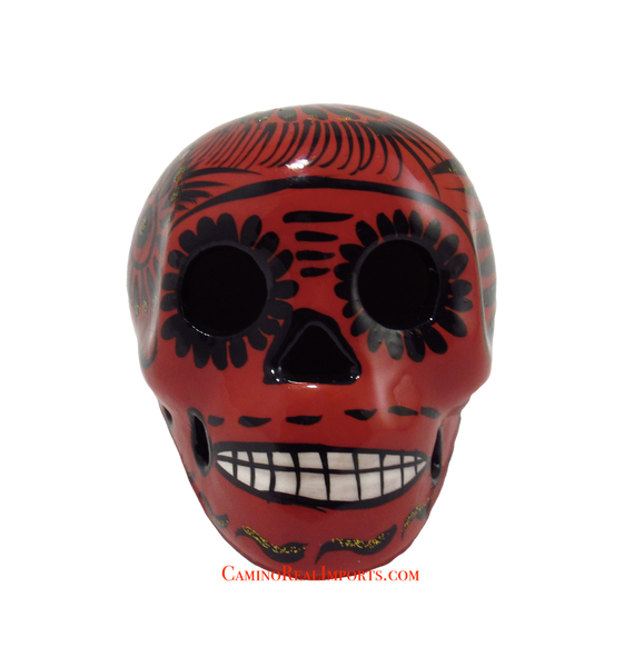 Day Of The Dead Hand Painted 3'' Skull MCSSM008