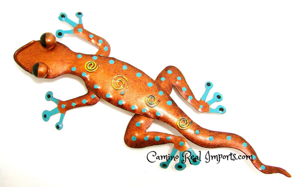 Wall Decor  Metal Lizard Gecko Caminorealimports.com