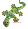 Hand Painted Clay Gecko Lizard GGLL038