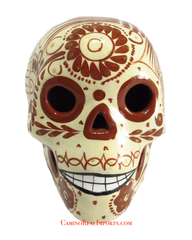 DAY OF THE DEAD HAND PAINTED SKULL MCS002