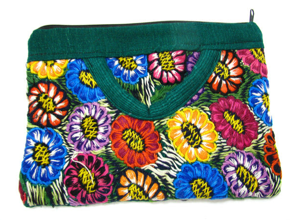 COIN PURSE HAND EMBROIDERED FLOWERS CPH003