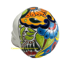 Talavera Pottery Hand Painted Sugar Skull TSSL001 Large
