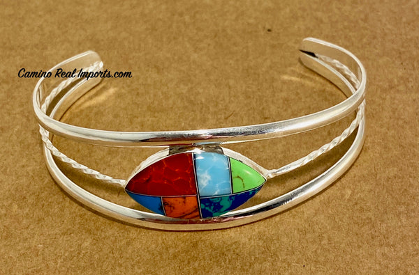 Multi Stone Inlay Bracelet JMSBR001