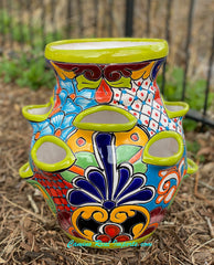 "Talavera Flower ""Strawberry"" Pot Planter 11"" TSTRBP0002"