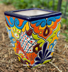 Talavera Flower Pot  Planter  TPTSQS001